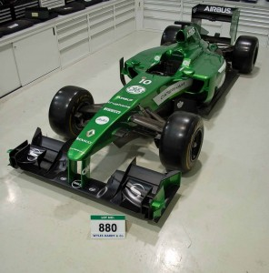 The 2010 F1 Show Car that is for sale.   Via Wyles Hardy & Co.