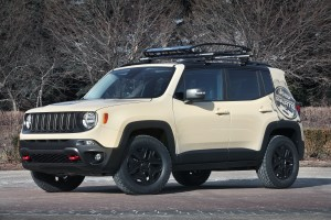 Jeep Renegade Desert Hawk was based on the Jeep Renegade, the newest Jeep SUV. The Desert Hawk was built for the ultimate desert adventure and is equipped with a selection of Mopar and Jeep Performance Parts.