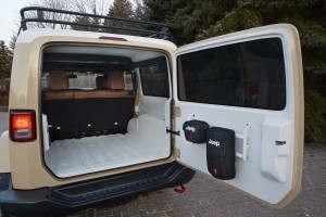The Africa has plenty of room for extra gear and auxiliary fuel tanks.  This cargo area, inner roof and floor are finished in a durable spray-in truck bed coating.