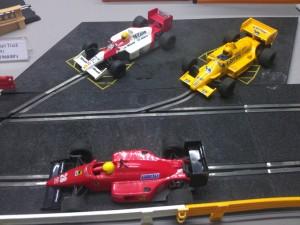 Hornby Centre Scalextric Cars McLaren Lotus Ferrari