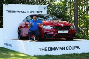 Pro golfer Andrew Johnston wins a BMW M4 with a hole in one