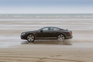Idris Elba breaks historic 'Flying Mile' record in Bentley Continental GT Speed, on Pendine Sands, Wales