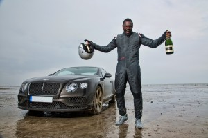 Idris Elba breaks historic 'Flying Mile' record in Bentley Continental GT Speed, on Pendine Sands, Wales(1)