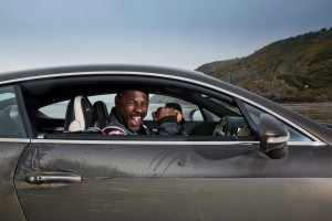 Idris Elba breaks historic 'Flying Mile' record in Bentley Continental GT Speed, on Pendine Sands, Wales(3)
