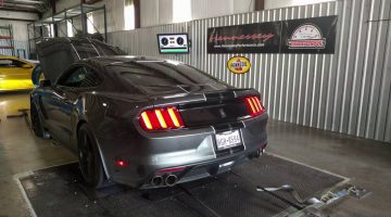 Watch the Hennessey HPE575 Shelby GT350 on the Dyno