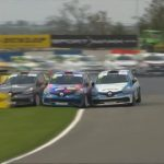 Insane UK Renault Clio Cup Crash at Donington Park