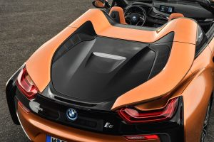 The 2018 BMW i8 Roadster Rear