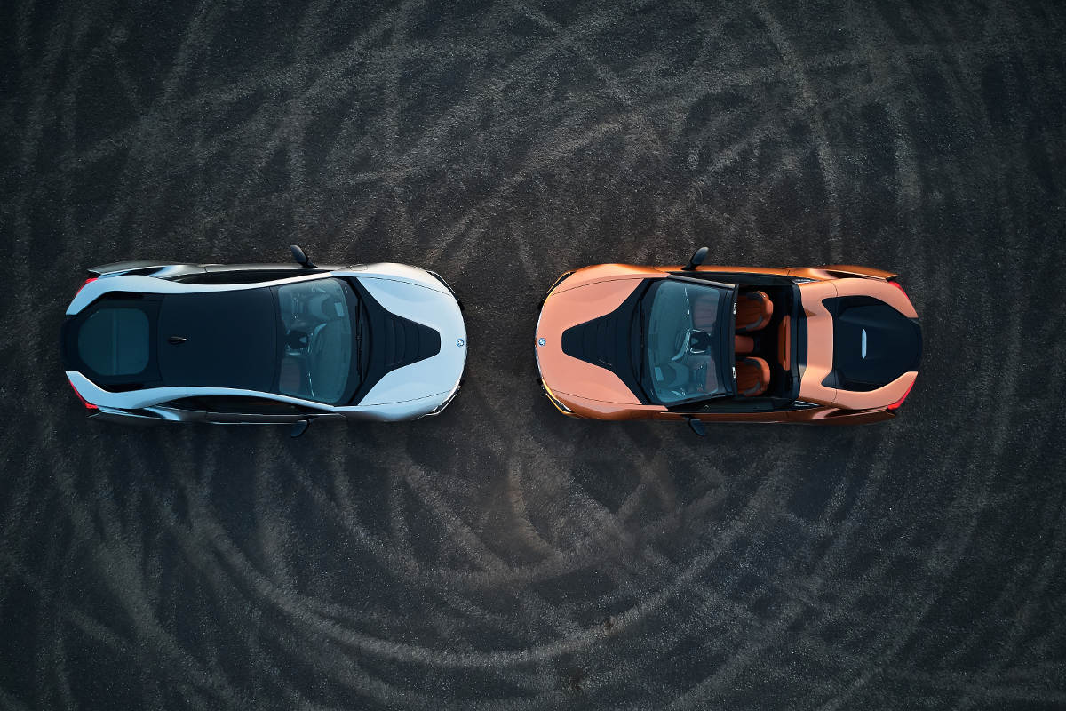The 2018 BMW i8 Roadster and i8 Coupe Above