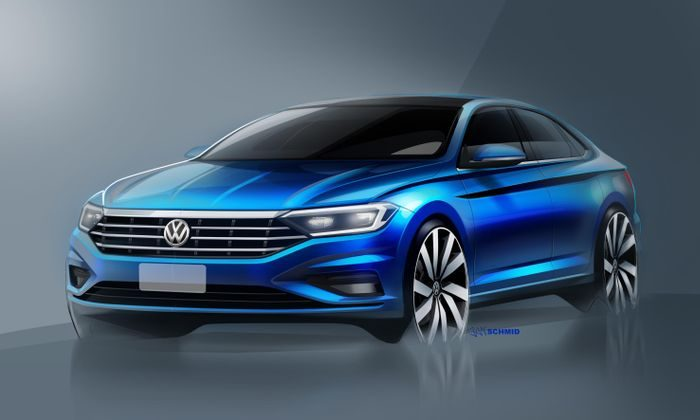 First sketches of the new Volkswagen Jetta revealed