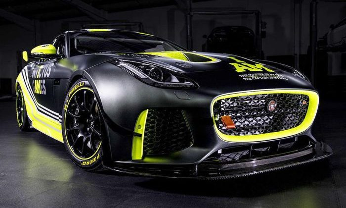 This is the Jaguar f-Type GT4 racing car